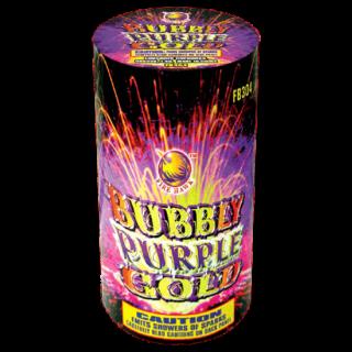 bubbly purple gold