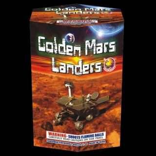 Golden Mars Lander Cake